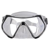 Wholesale One Piece Lens Scuba Diving Mask For Adult With Silicone Strap , CE Passed from china suppliers
