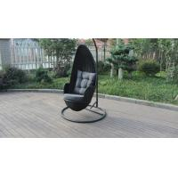 Buy cheap Stock Discount Rattan Furniture Black Rattan Hanging Swing Chair With Grey from wholesalers