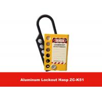 Wholesale Six Holes Yellow Aluminum Alloy Safety Lockout Hasp with Lable on Both Sides from china suppliers