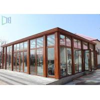 Quality Eco Environmental Aluminium Frame Greenhouse Sunroom For High Level Villa for sale