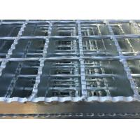 Wholesale Galvanized Serrated Steel Grating Anti Slip Welded Steel Silver / Black Color from china suppliers