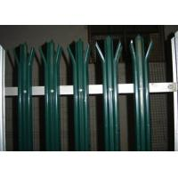 Wholesale Anti Climb Security Palisade Fencing Gates For Lawns / Villas , Metal Picket Fence Panels from china suppliers