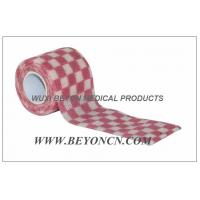 Quality Cohesive Self Adhesive Bandage Elastic Wrap OEM Pink Check For Fixation for sale