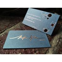 China Rose Gold Foil Stamped Business Card  Delicate Copper Foil Hot Stamped Name Card on sale