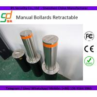 Wholesale Traffic Manual Hydraulic Rising Bollards Stainless Steel Polishing Surface from china suppliers
