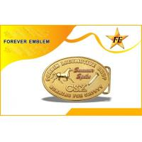 Buy cheap Custom Bronze Military Mens Belt Buckles In Gold Plating Without Color from wholesalers
