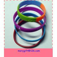Fashionable Colorful Silicone Bracelet for sale
