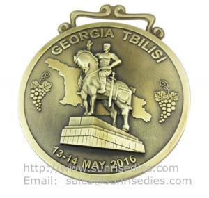 Wholesale Custom 3D embossed metal medallions, personalized metal sport medal sport medallions from china suppliers