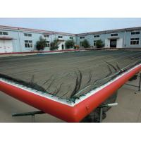 Wholesale HDPE Mesh Boom Inflatable Air Mat Color Optional For Swimming Pool / Sea from china suppliers