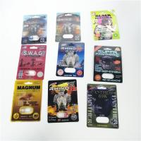 China Man Sex Paper Card Blister Pack Packaging Burro Rhino Black Mama Packing Single Double Hole for sale