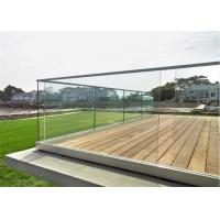 China Customized Design U Channel Aluminum Deck Railing Systems Tempered Glass Guardrail For Residential Fence on sale