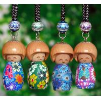 Wholesale car air freshener empty bottle 5ml with smile face wood head from china suppliers
