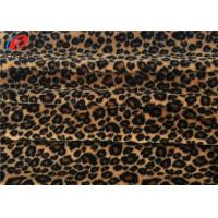Wholesale Leopard Printed 100% Stretch Polyester Fabric 1MM Velboa Fabric Eco Friendly from china suppliers