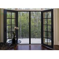 Grilles Design Hinged Aluminium Doors , Exterior / Interior Swinging Doors