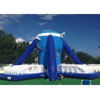 Wholesale Free Klimb Inflatable Interactive Games , Large Blue 28ft Inflatable Climbing Wall from china suppliers