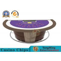 Wholesale Luxury Super Casino Blackjack Table  , 7 Player Casino Poker Game Desk from china suppliers