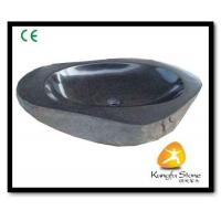 Xiamen Kungfu Stone Ltd supply Oval Black Granite Basin For Indoor Kitchen,Bathroom for sale