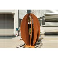 Wholesale Corten Landscape Outdoor Steel Sculpture Garden Decor Rusty Naturally Finish from china suppliers