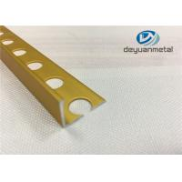 Buy cheap Bright Gold Aluminium Floor Profile L With Hole Punched from wholesalers