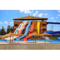 Wholesale Customized Combination  Open  Rainbow Super Bowl Fiberglass Water Slide Spiral Slide from china suppliers