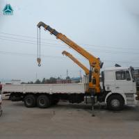 Wholesale HOWO 6x4 10 Ton Folding Boom Truck Mounted Crane Engine 160hp - 290hp from china suppliers