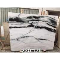 """Wholesale Polished Kitchen 30mm 70*26"""" Panda White Marble Slab from china suppliers"""