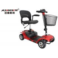Wholesale Outdoor Red Mobility Scooter / Folding Mobility Scooter 6km/Hour Max Speed from china suppliers