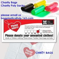 Wholesale charity shop collection bag, Plastic donation bags, charity sacks, green sacks, yellow bag from china suppliers