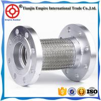 Wholesale Different diameter 304 or 316 Stainless Steel teflon flexible metal hose with flange end and braided sleeving from china suppliers