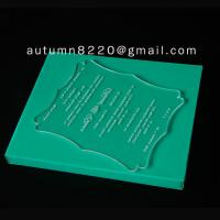 Wholesale ICB (4) unnormal wedding invitation plastic from china suppliers