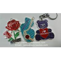 Wholesale Clear Crystal Enamel Charms, Red Rose Crystal Clear Enamelled Charm Pendants Factory from china suppliers