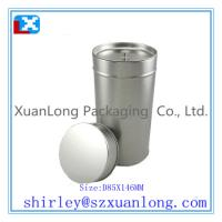 Wholesale Round metal tea coffee tin box with inner lid from china suppliers