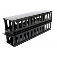 Wholesale Plastic Dual Sided Finger Duct Cable Management , Horizontal Rack Mount Brush Panel from china suppliers