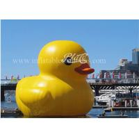 China Inflatable Big Yellow Rubber Duck Floating 3m Height For Water Games on sale