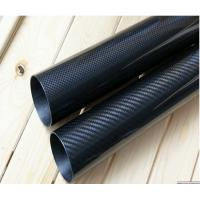 Buy cheap high glossy 3K plain 3K twill weave carbon fiber tubes from wholesalers