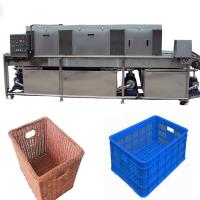 Wholesale Vegetable Storage Plastic Crate Cleaning Machine , Turnover Industrial Crate Washers from china suppliers