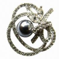 Buy cheap Rhinestones Brooch with Big Beads from wholesalers