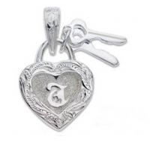 Wholesale Girls Lover 925 Silver Hawaiian Jewelry , Heart Lock And Key Hawaiian Pendant from china suppliers