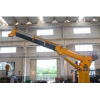 China Ship Crane Electro - Hydraulic Marine Deck Crane 8T 15M Remote Control Telescopic Boom on sale