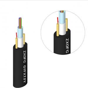 Wholesale Non Metal GYFXTBY FRP Center Fiber Optic Cable Double Parallel MDPE from china suppliers
