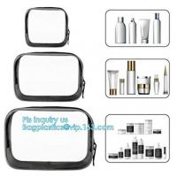 Wholesale cusotm logo rope handle clear pvc bag with zipper, handle transparent cosmetic bag, Ziplock Make Up Travel Bag, Organize from china suppliers