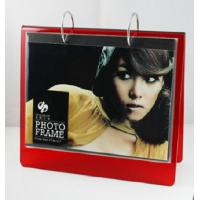 Wholesale red calender 6x8 acrylic photo frame from china suppliers