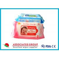 Wholesale Aloe / Vetamin E Natural Baby Wipes No Chemicals Hand / Mouth Cleaning Hyginen Tissues from china suppliers