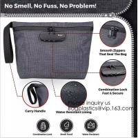 Wholesale Smell Proof Bag Premium Odor Proof Container/Carbon Lined Pouch Locks In Scents And Smelly Odor Great For Home Or Travel from china suppliers