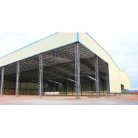 China Light Span Steel Structures Warehouse / Truss Roof Metal Storage Buildings on sale