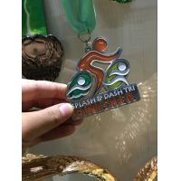 Buy cheap Translucence Color Custom Finisher Medals With Lanydard Environmental Friendly from wholesalers