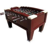 Red Wood Painted Heavy Duty Football Table 5FT For Outdoor Entertainment