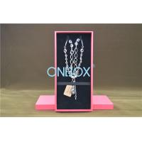 Wholesale Solid Luxury Jewellery Packaging Boxes Removable Insert Pads For Necklace from china suppliers