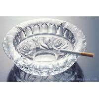 China High quality Round Transparent Glass Ashtray on sale