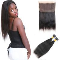 Wholesale 8A Grade 360 Lace Frontal Closure 2 Bundles Without Chemical Processed from china suppliers